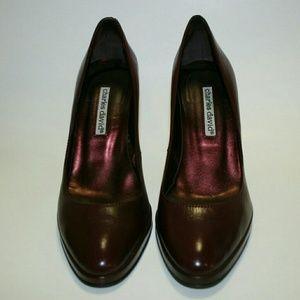 Charles David Shoes - Charles David Burgundy/Wine Leather Pumps